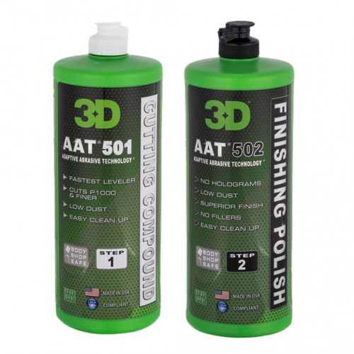 3D Profesyonel Pasta ve Cila Seti 2 x 976 ml. AAT 501 ve AAT 502