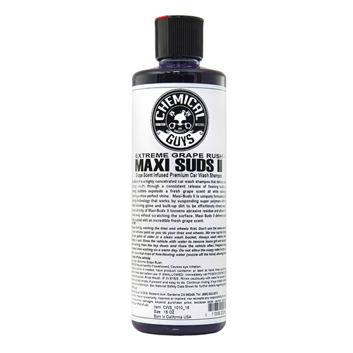 Chemical Guys  MAXI-SUDS II Extreme Grape Rush - Üzüm Kokulu Cilalı Şampuan - 473 ml.