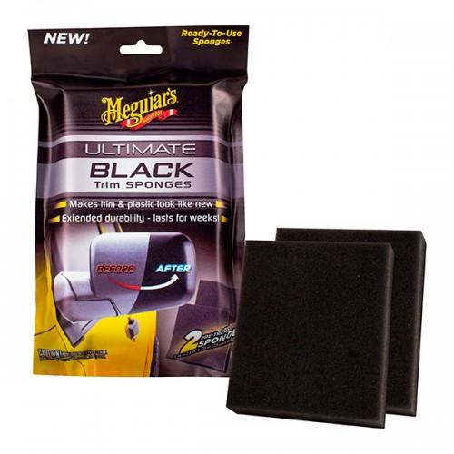 Meguiars Ultimate Black Trim Sponges - Lastik , Plastik Yenileme Süngeri 2 adet