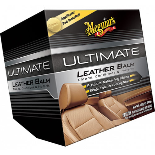 Meguiars Ultimate Leather Balm Deri Bakım Kremi ve Pedi 160Gr