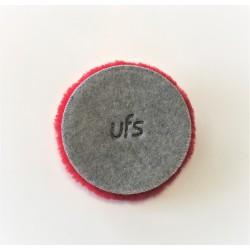 Ufs 160 mm Red Wool Pad & Kırmızı Koyun Yünü Pasta Keçesi  ( Orbital ve Rotary Uyumlu )  Tüy Boyu 17mm
