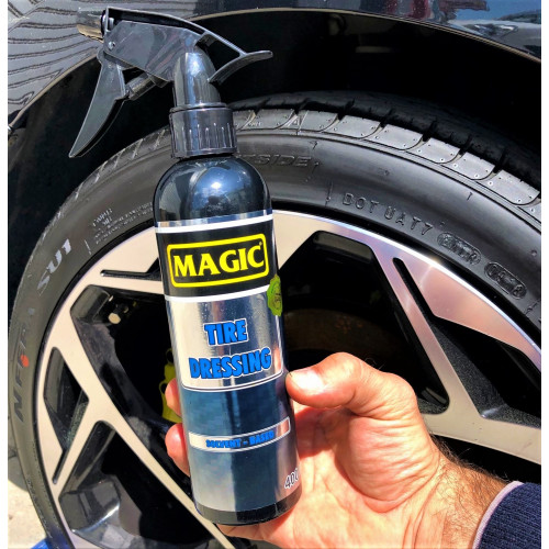 Magic TIRE DRESSING - Uzun Ömürlü Lastik & Plastik Aksam  Parlatıcı  - 400 ml