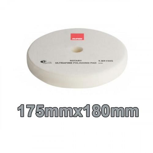 Rupes Rotary UltraFine Polishing Pad - Beyaz İnce Cila Süngeri 175mm/180mm - 25 mm Kalınlık  ( Rotary Makineler için Uygundur. )