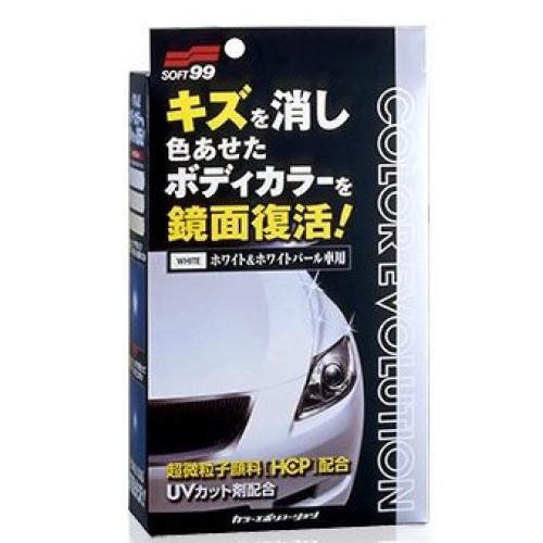 Soft99 Color Evolution White - Beyaz Ve Beyaz Sedef Renk Araçlar İçin Renkli Cila Seti ( 4 Parça ) - 100ml