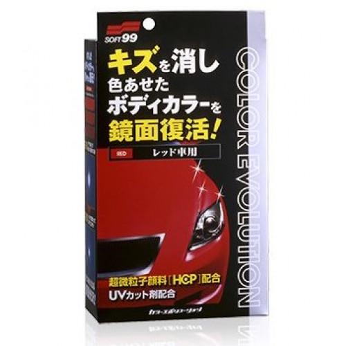 Soft99 Color Evolution RED - Kırmızı Renk Araçlar İçin Renkli Cila Seti - 100ml