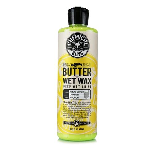 Chemical Guys Butter-Wet Wax - Carnauba içerikli derin ve ıslak görünümün veren wax 473 ml