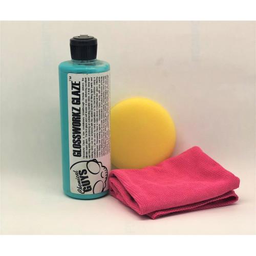 Chemical Guys Glossworkz Glaze - Kapatıcı Özelliği Yüksek Parlatıcı SET 473 ml ( ESKİ AMBALAJ )