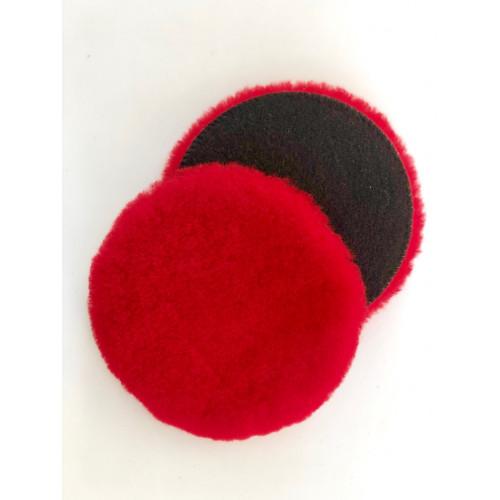 Magic Red Wool Pad & Kırmızı Koyun Yünü Keçe - ( Orbital + Rotary ) 160 mm Çap - 17mm Tüy Boyu