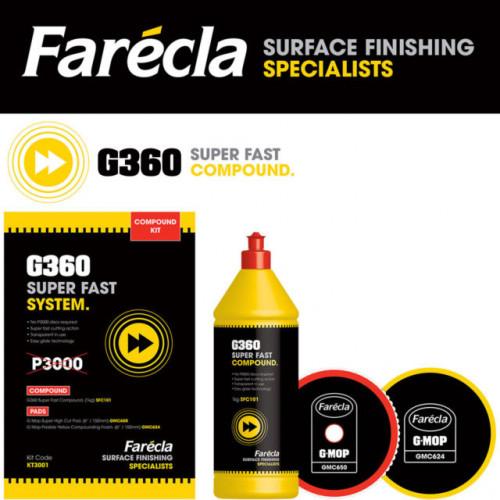 Farecla G360 KT3001 Süper Hızlı Çizik Çıkarıcı Pasta Seti ( 3 Ürün )