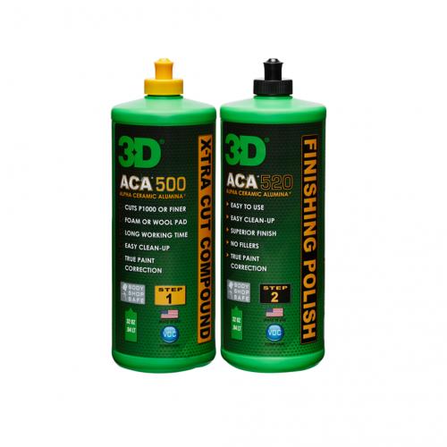 3D ACA™ 500-520 Ultra Kusur Giderici Pasta ve Cila Seti 2x946 ml.